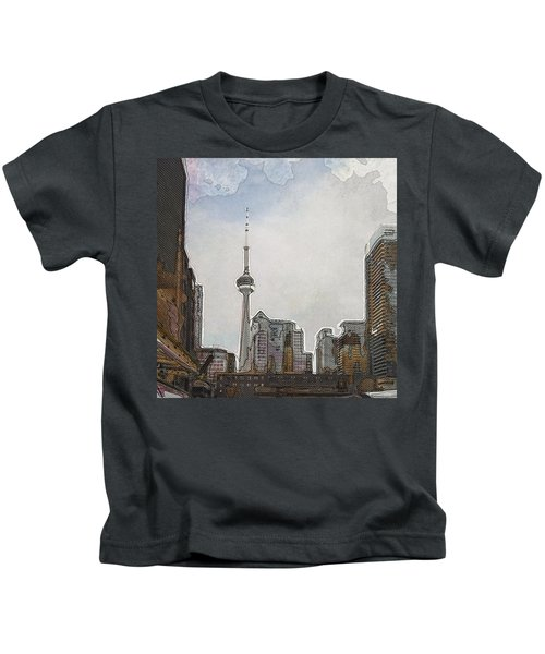 Downtown Toronto In Color Kids T-Shirt