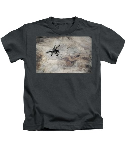 Dragonfly On Solid Ground Kids T-Shirt