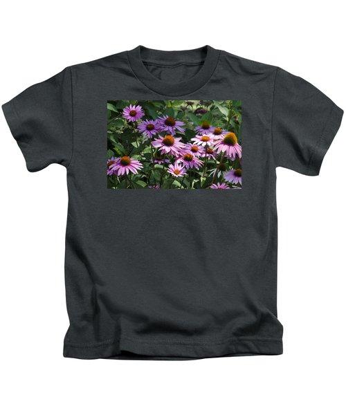 Dramatic Coneflowers Kids T-Shirt