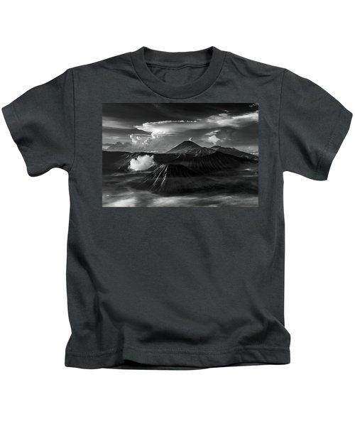 Dramatic View Of Mount Bromo Kids T-Shirt