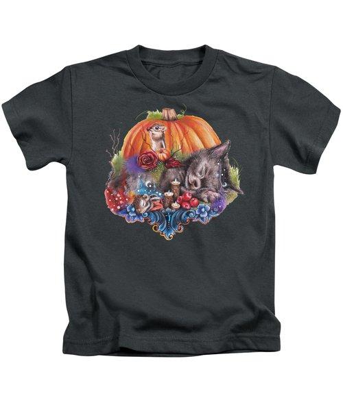 Dreaming Of Autumn Kids T-Shirt by Sheena Pike