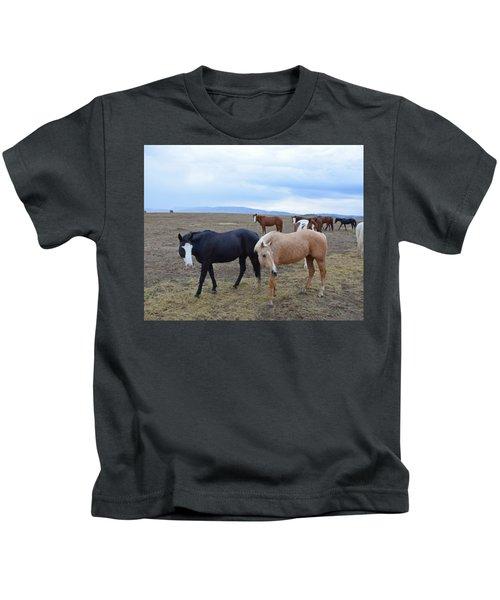 Dreaming Of Wild Horses Kids T-Shirt