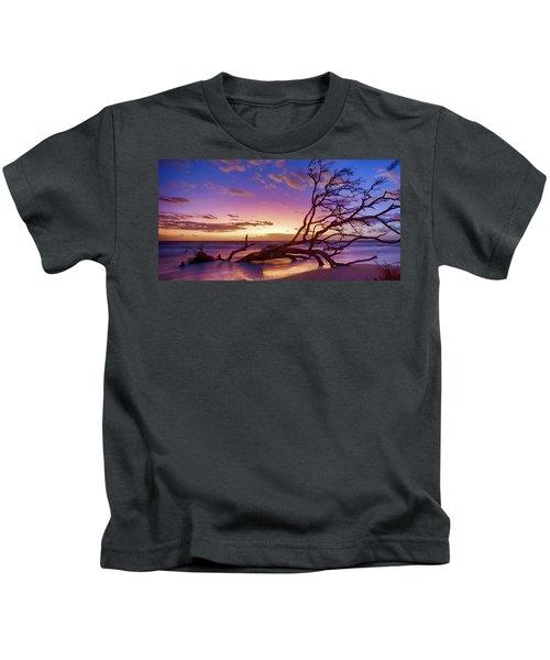 Driftwood Beach 1 Kids T-Shirt