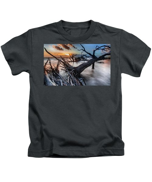 Driftwood Beach 6 Kids T-Shirt