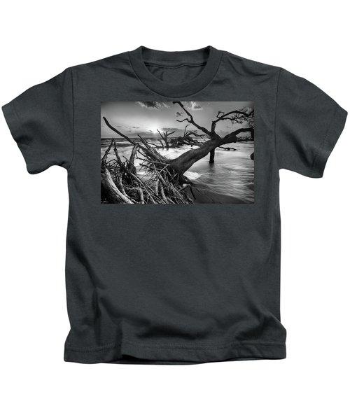 Driftwood Beach 8 Kids T-Shirt