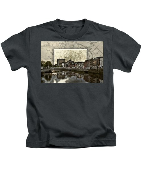 Dublin Skyline Mapped Kids T-Shirt