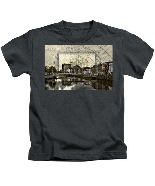 Dublin Skyline Mapped Kids T-Shirt