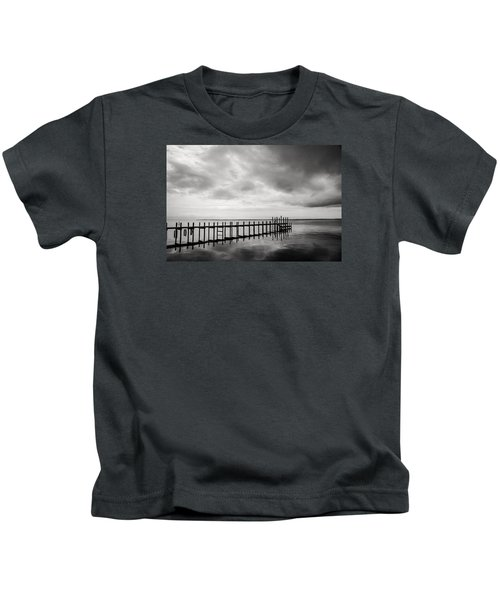 Duck Pier In Black And White Kids T-Shirt