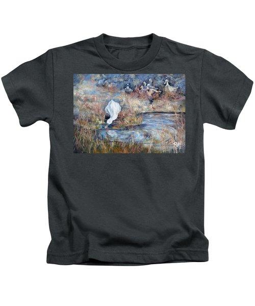 Ducks. Split Opposite Colour Harmony.  Kids T-Shirt