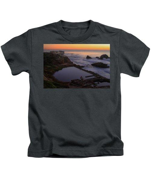 Dusk At Sutro Baths Kids T-Shirt