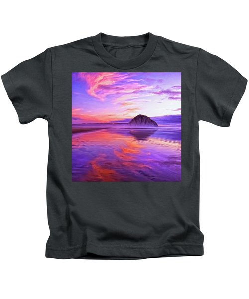 Dusk On The Morro Strand Kids T-Shirt