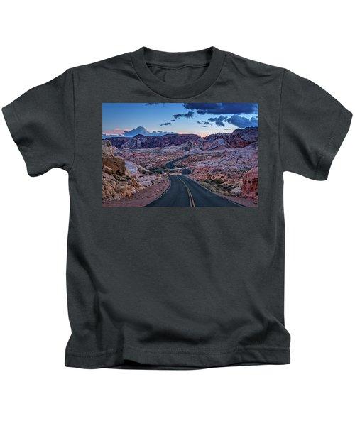 Dusk On The Open Road Kids T-Shirt