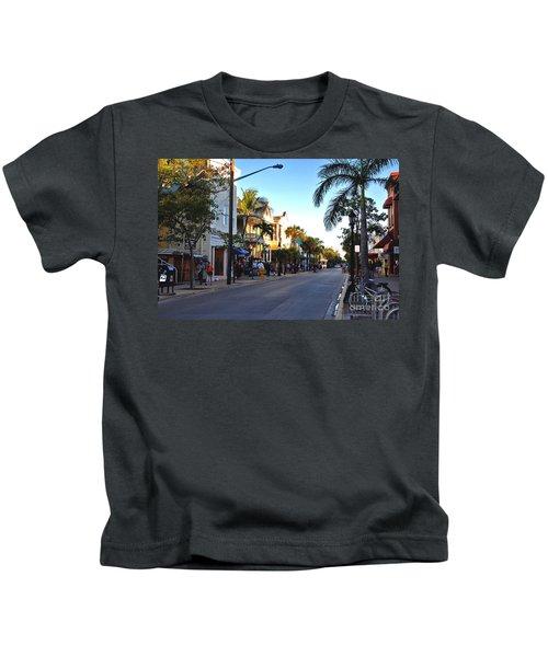 Duval Street In Key West Kids T-Shirt