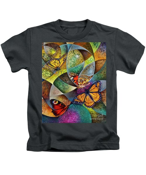 Dynamic Papalotl Series 2 - Diptych Kids T-Shirt