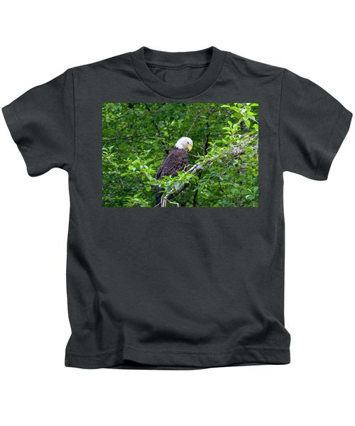 Eagle In The Tree Kids T-Shirt