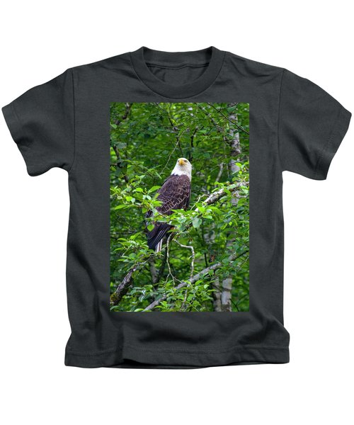 Eagle In Tree Kids T-Shirt