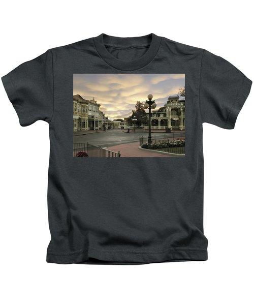 Early Morning Magic Kingdom Walt Disney World Kids T-Shirt