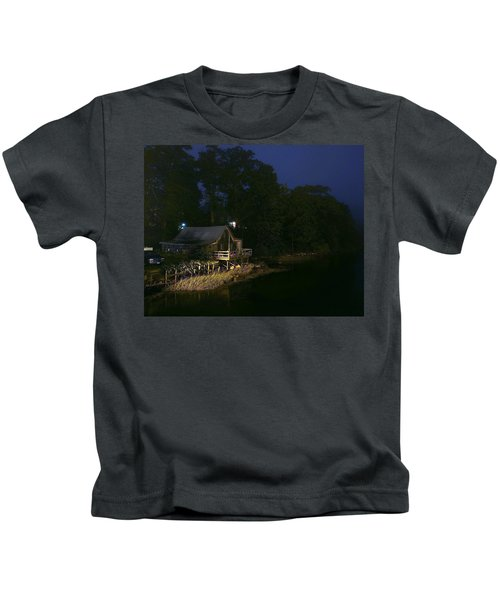 Early Morning On The River Kids T-Shirt