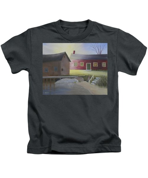 Early Morning Sun At The Shop Kids T-Shirt