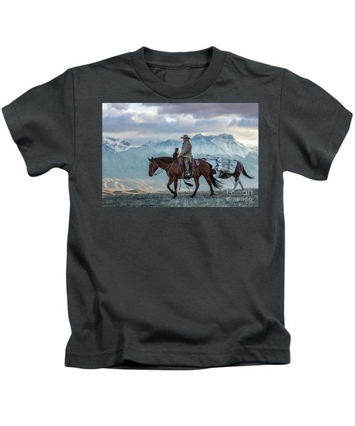 Early October Hunt Wild West Photography Art By Kaylyn Franks Kids T-Shirt
