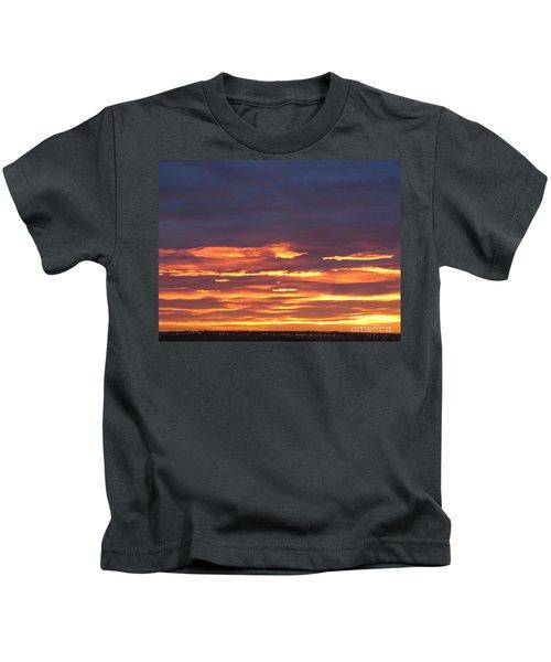 Early Prairie Sunrise Kids T-Shirt