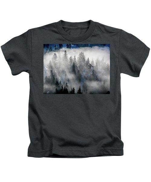 East Shore Inversion, Lake Tahoe Kids T-Shirt