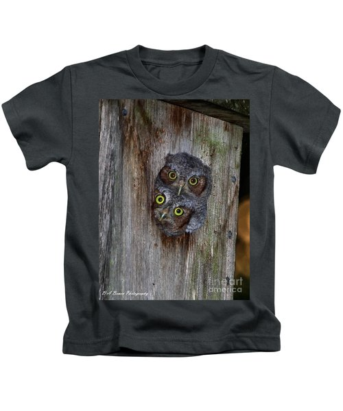 Eastern Screech Owl Chicks Kids T-Shirt
