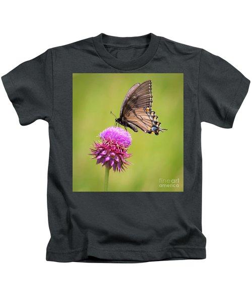 Eastern Tiger Swallowtail Dark Form  Kids T-Shirt