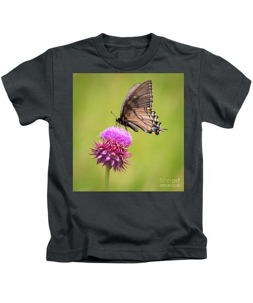Eastern Tiger Swallowtail Dark Form  Kids T-Shirt