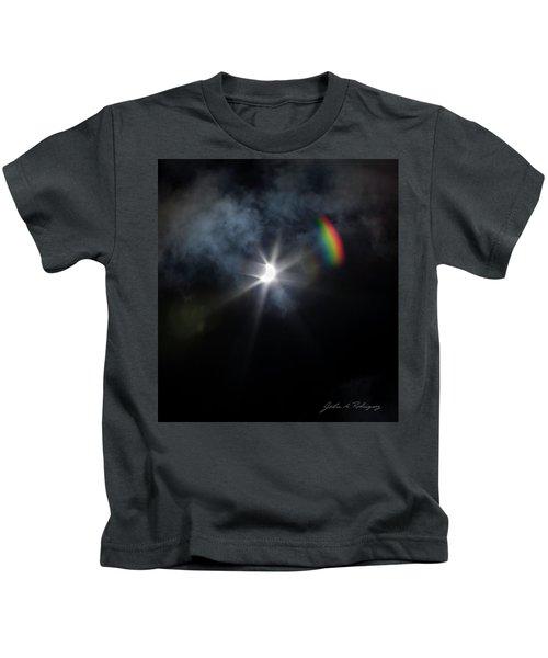 Solar Eclipse 2017 And Rainbow Kids T-Shirt