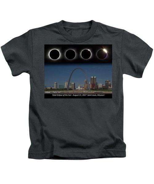 Eclipse - St Louis Skyline Kids T-Shirt