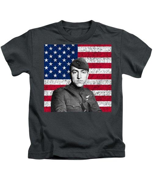 Eddie Rickenbacker And The American Flag Kids T-Shirt