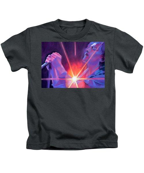 Eddie Vedder And Lights Kids T-Shirt