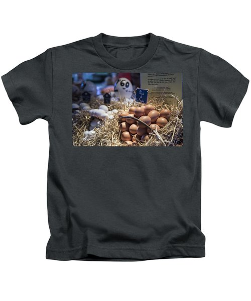 Eggsactly What You Are Looking For - La Bouqueria - Barcelona Spain Kids T-Shirt