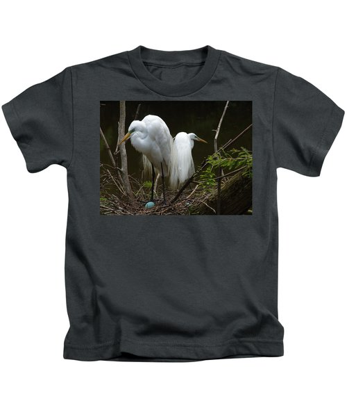 Egrets Kids T-Shirt