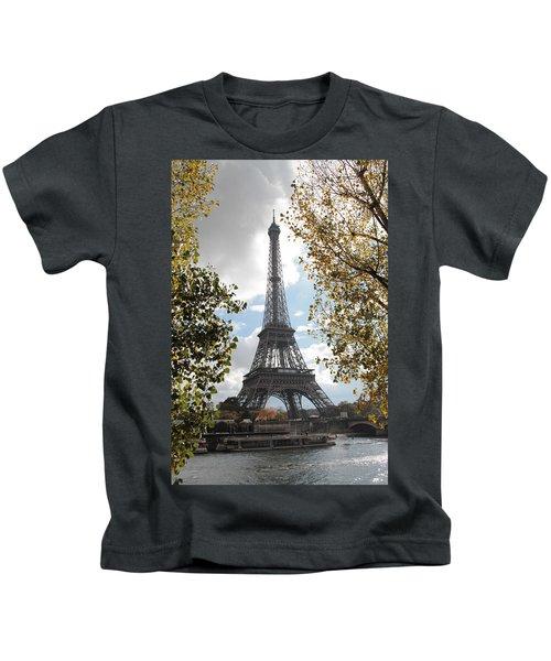 Eiffel From Avenue De New York Kids T-Shirt