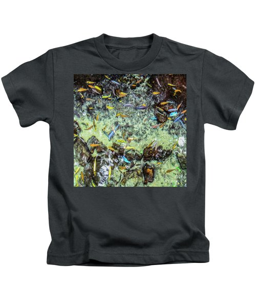 Electric Fish In The Pond Kids T-Shirt