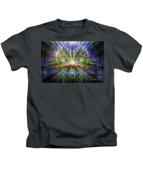 Electric Owl  Kids T-Shirt