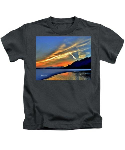 Electric Sunrise Kids T-Shirt