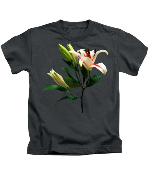 Elegant Lily And Buds Kids T-Shirt
