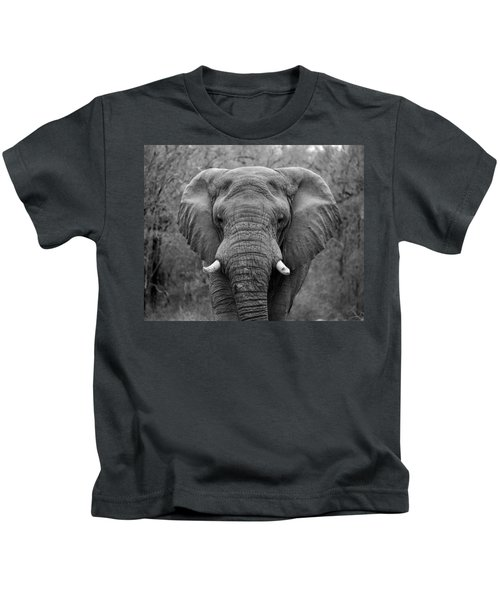 Elephant Eyes - Black And White Kids T-Shirt