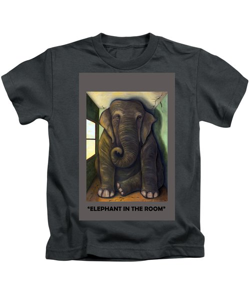 Elephant In The Room With Lettering Kids T-Shirt