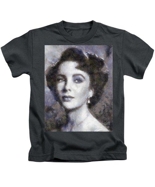 Elizabeth Taylor By Sarah Kirk Kids T-Shirt