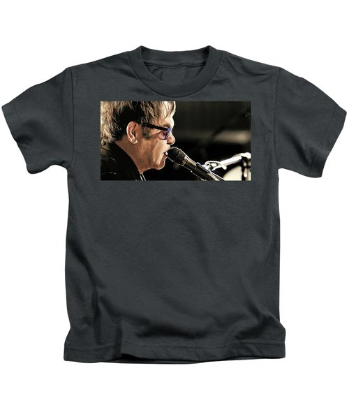 Elton John At The Mic Kids T-Shirt