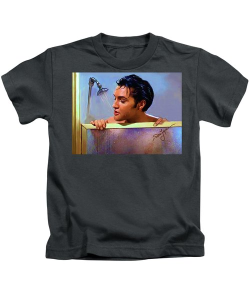 Elvis Presley Art 24 Kids T-Shirt