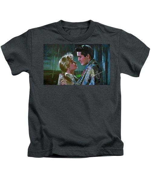 Elvis Presley Art 7 Kids T-Shirt