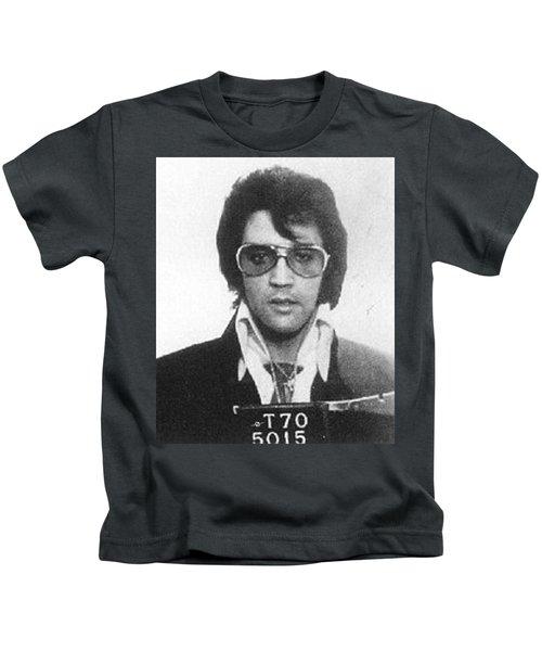 Elvis Presley Mug Shot Vertical Kids T-Shirt