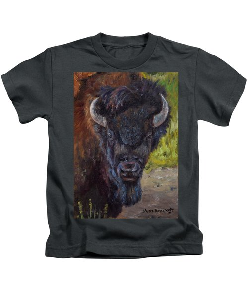 Elvis The Bison Kids T-Shirt
