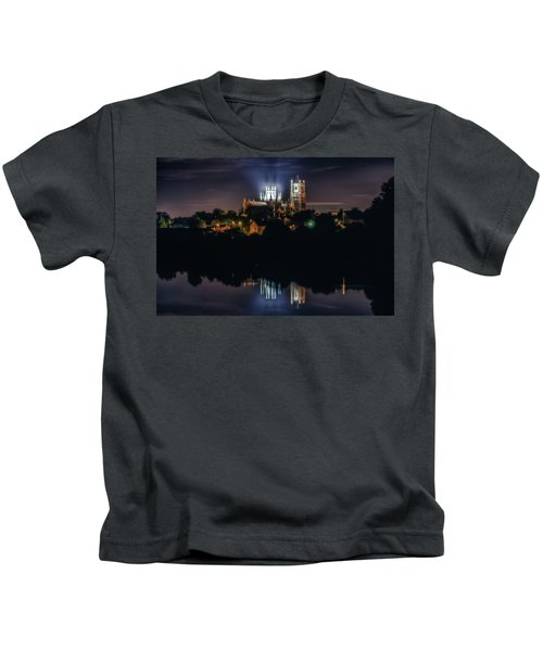 Ely Cathedral By Night Kids T-Shirt