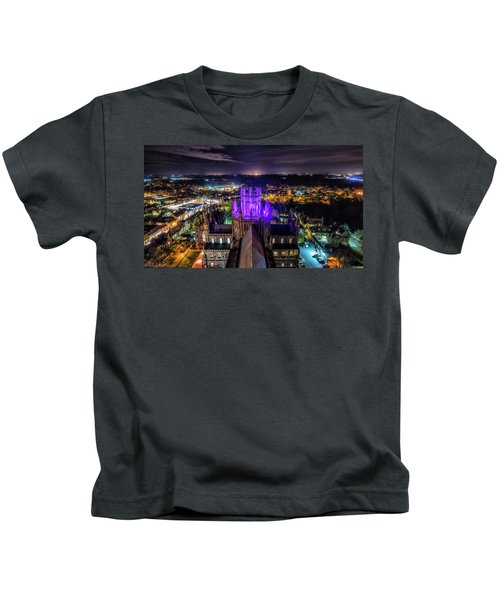 Ely Cathedral In Purple Kids T-Shirt